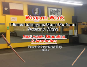 WEAPONS WEEK!! & ONLY OPEN MON-WED