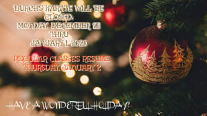 DOJO HOLIDAY CLOSINGS