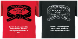 BLACK BELT CLUB AND MASTER'S CLUB TEES!