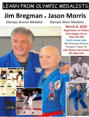 US Judo Olympic Medalist Jim Bregman and Jason Morris Come To North Jersey Judo of Pompton Lakes For Judo Clinic
