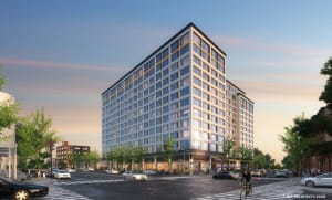 Twelve Story Building Will Replace Awful Shopping Center at 5th & Spring Garden???