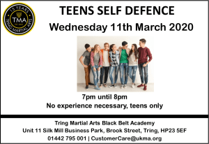 Teens Self Defence Seminar at Tring Martial Arts Academy