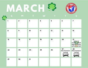 March Event Calender