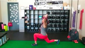 Form Friday: Free Band Press & Hold Split Squats