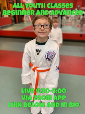 Information on online classes youth beginner & advanced Tuesday, March 17th