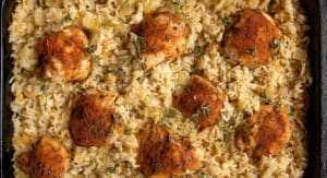Recipe: One Pan Baked Chicken & Rice