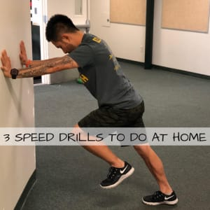 3 Speed Drills To Do At Home