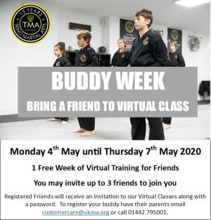 Virtual Buddy Week at Tring Martial Arts Academy