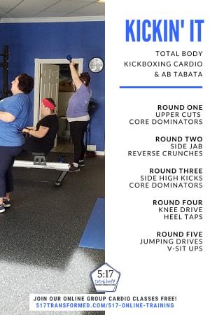 At Home HIIT Workout: Kickin' It