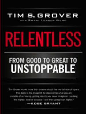 "A great lesson from the book ""Relentless"""