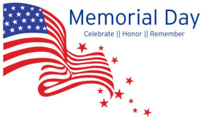 Closed Monday in Observance of Memorial Day