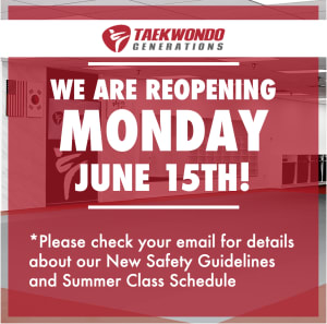 REOPENING MONDAY, JUNE 15th