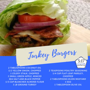 Recipe of the week: Turkey Burgers