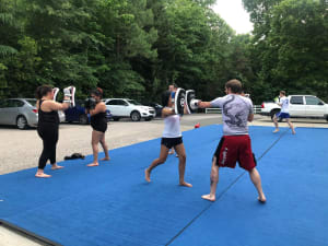 Get back in the groove with Muay Thai while social distancing!