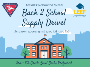 Back 2 School Supply Drive!