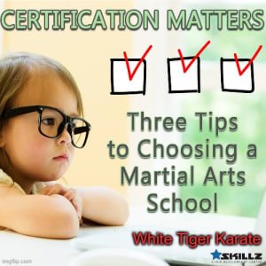 Certification Matters  Three Tips to Choosing a Martial Arts School