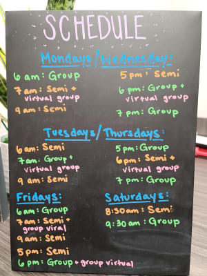 Current GFT Schedule ( Subject To Chang if Needed)