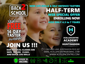 New FREE 14-day tasters - Huntingdon Academy Web ONLY - Half-term Offer - 4.5 to 7 years
