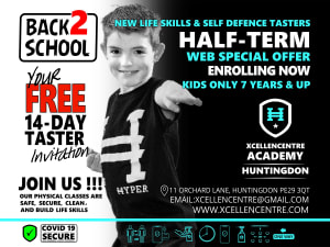 New FREE 14-day tasters - Huntingdon Academy Web ONLY - Half-term Offer - 7 years +