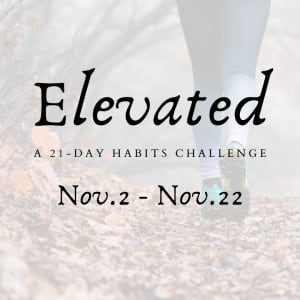 Elevated: 21-Day Habits Challenge Starts Monday 11/2