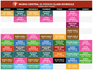 Announcing new outdoor classes at Wushu Central