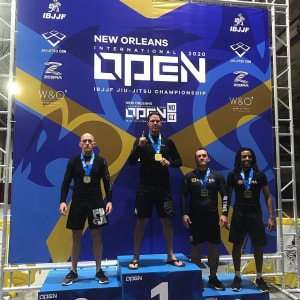 Chris Bower claims Gold in weight. Silver in open Weight at the IBJJF New Orleans International Open
