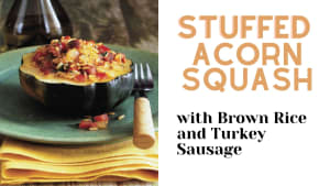 WOW! Stuffed Acorn Squash: FAST, Festive, Simple, AND Delicious