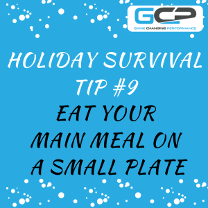 Holiday Nutrition Survival Guide Tip #9: Eat Your Main Meal on a Small Plate