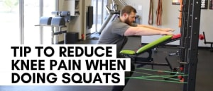 Tip to Reduce Knee Pain When Doing Squats