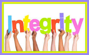 Integrity ... doing what's right even when no one (or our kids) may be watching us