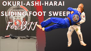 Okuri-ashi-harai (sliding foot sweep) for Jiu-jitsu
