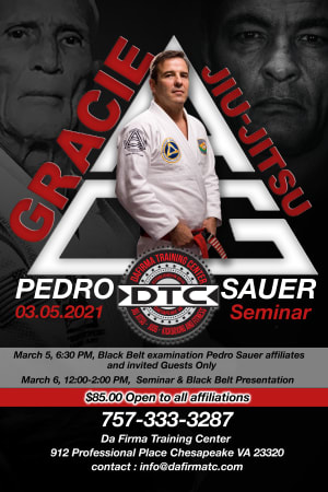Master Pedro Sauer is coming to DTC March 6, 2021