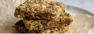 Recipe: No bake oatmeal almond squares with hidden zucchini