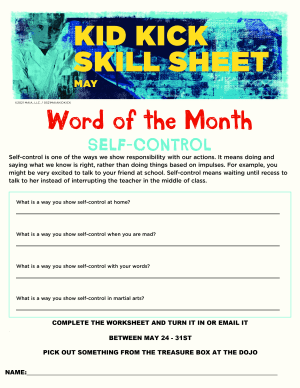 May 2021 Word of the Month Sheet
