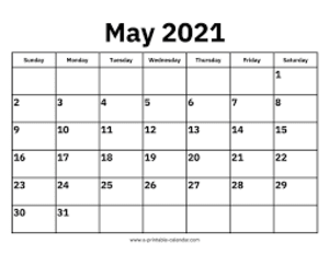 May 2021 Events