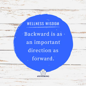 Backward is as an important direction as forward.