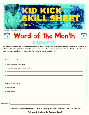 June 2021 Word of the Month Worksheet