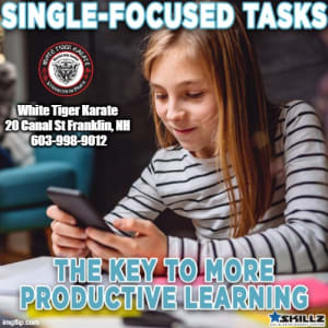 Single-Focused Tasks  The Key to More Productive Learning