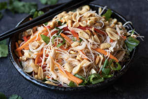 Summer Recipe: Vietnamese-Inspired Cold Rice Noodle Salad with Chicken