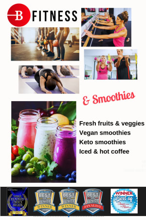 We are now BFitness & Smoothies (healthy fresh-fruit smoothies)