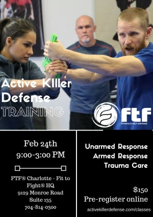 Kids Martial Arts in Charlotte - FTF® Fitness and Self-Defense - Active Killer Defense Training in February