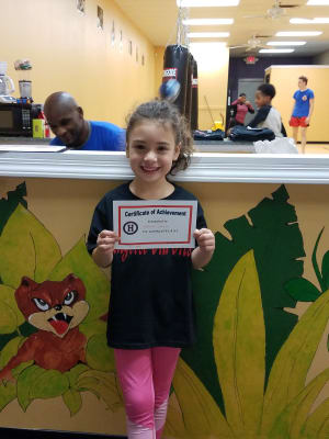 in Lawrenceville - Team Mongoose BJJ - Hopkins Elementary Cert of Achievement Recipient