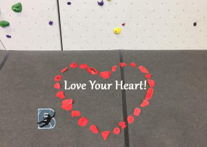Rock Climbing  in Wichita - Bliss Bouldering And Climbing Complex - 5 ways to improve heart health - National Red Day