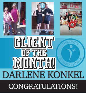 Personal Training in New Berlin - Wisconsin Personal Fitness - Client Of The Month!