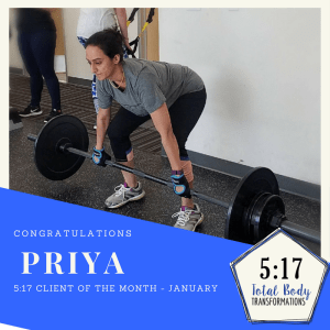 January's Client of the Month: Priya
