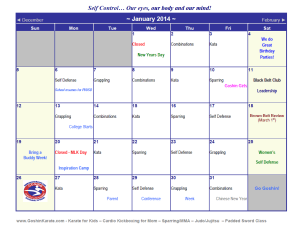 Kids Karate in Scottsdale - Goshin Karate & Judo Academy - Karate Calender for January 2014