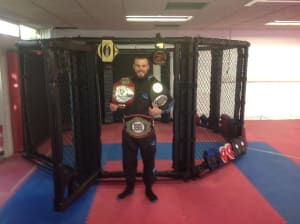 Kids Karate in Ipswich - Blackwell Academy - New MMA Cage at the Ipswich Academy Ready for Action
