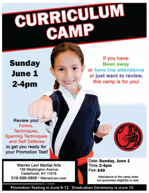 Karate Curriculum Camp in the Five Towns