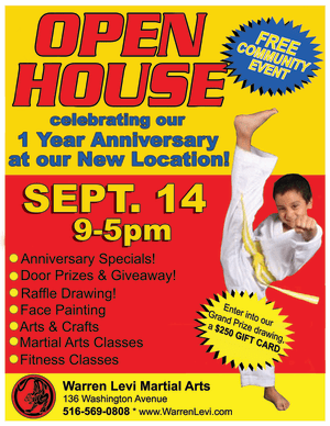 in Five Towns - Warren Levi Martial Arts & Fitness - OPEN HOUSE IN THE FIVE TOWNS