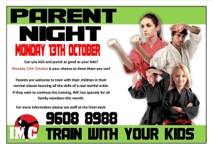 Kids Karate in Prestons and Liverpool - IMC Liverpool - Parent Night